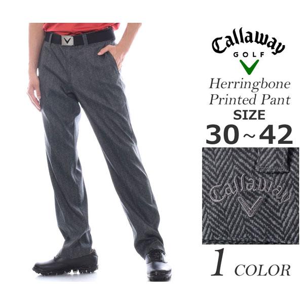 キャロウェイ Callaway  ゴルフパンツ メンズウェア ヘリンボーン プリント パンツ 大きいサイズ USA直輸入 あす楽対応