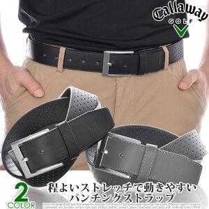 キャロウェイ Callaway メンズ ゴルフウェア パーフォレーテッド ストレッチ ベルト 大きいサイズ USA直輸入 あす楽対応