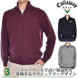 キャロウェイ Callaway ゴルフウェア メンズ おしゃれ 秋冬ウェア 長袖 メンズウェア 1/4ジップ メリノ 長袖セーター 大きいサイズ USA直輸入 あす楽対応