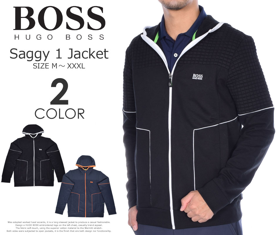 (在庫処分)ヒューゴボス HUGO BOSS ゴルフウェア メンズ 秋冬ウェア 長袖メンズウェア ゴルフ サギー 1 長袖ジャケット 大きいサイズ USA直輸入 あす楽対応