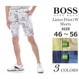 (在庫処分)ゴルフウェア メンズ 春 夏 ゴルフパンツ ハーフパンツ メンズ おしゃれ ヒューゴボス HUGO BOSS メンズウェア ゴルフ パンツ ウェア ショートパンツ リーム4 プリント1W ショートパンツ 大きいサイズ USA直輸入 あす楽対応