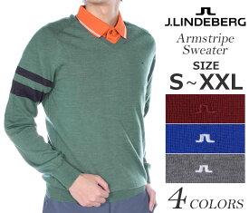 (在庫処分)ジェイリンドバーグ 長袖メンズゴルフウェア アームストライプ 長袖セーター 大きいサイズ USA直輸入 あす楽対応