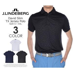 ゴルフウェア メンズ シャツ トップス ポロシャツ 春夏 おしゃれ (在庫処分)Jリンドバーグ J.LINDEBERG  デビッド スリム TX ジャージー 半袖ポロシャツ 大きいサイズ USA直輸入 あす