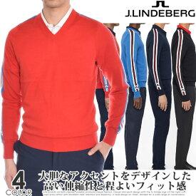 (楽天スーパーセール)ジェイリンドバーグ J LINDEBERG ゴルフウェア メンズ 秋冬ウェア 長袖メンズウェア ノーランズ ピマコットン 長袖セーター 大きいサイズ USA直輸入 あす楽対応