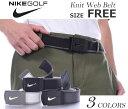 ナイキ ベルト ゴルフベルト メンズ ゴルフウェア ニット ウェブ ベルト 大きいサイズ USA直輸入