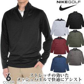 ナイキ Nike ゴルフウェア メンズ 秋冬ウェア 長袖メンズウェア ゴルフ Dri-FIT ハーフジップ コア 長袖プルオーバー 大きいサイズ USA直輸入 あす楽対応