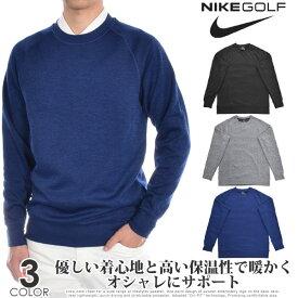 ナイキ Nike ゴルフウェア メンズ 秋冬ウェア 長袖メンズウェア ゴルフ Dri-FIT クルーネック 長袖セーター 大きいサイズ USA直輸入 あす楽対応