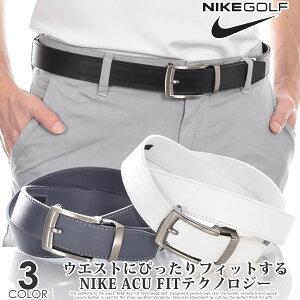ナイキ Nike ゴルフベルト メンズ おしゃれ ACU FIT シングル ステッチ フラット エッジ ベルト 大きいサイズ USA直輸入 あす楽対応