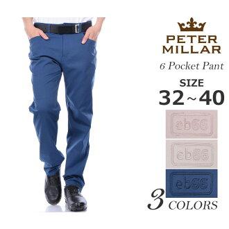 (乐天超级售) 彼得 · 米勒彼得 · 米勒男式裤子底部 6 口袋的裤子大尺寸 02P03Dec16