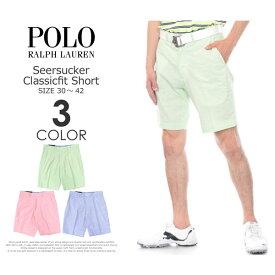 (在庫処分)ポロゴルフ ラルフローレン メンズウェア ゴルフ パンツ ウェア ショートパンツ シアサッカー クラシックフィット ショートパンツ 大きいサイズ USA直輸入 あす楽対応