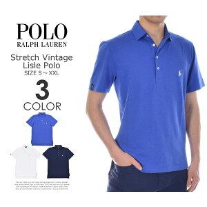ポロゴルフラルフローレンゴルフウェアメンズウェアゴルフストレッチビンテージライル半袖ポロシャツ大きいサイズUSA直輸入あす楽対応
