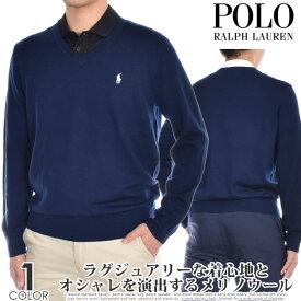 (楽天スーパーセール)ポロゴルフ ラルフローレン ゴルフウェア メンズ おしゃれ 秋冬ウェア 長袖メンズウェア メリノ Vネック 長袖セーター 大きいサイズ USA直輸入 あす楽対応