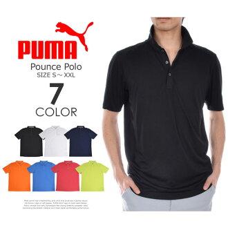 (attributive ★ point 5 times) big size USA direct import supports Puma Puma ゴルフウェアメンズウェアゴルフポロシャツパウンス short sleeves polo shirt