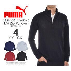 (在庫処分)プーマ Puma ゴルフウェア メンズ 秋冬ウェア 長袖メンズウェア エッセンシャル エボニット 1/4ジップ 長袖プルオーバー 大きいサイズ USA直輸入 あす楽対応 令和元年記念セール