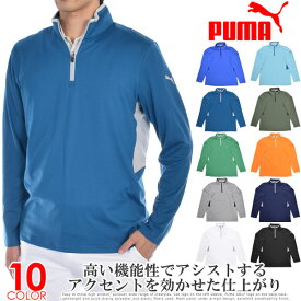 プーマ Puma ゴルフウェア メンズ 秋冬ウェア 長袖メンズウェア ローテーション 1/4ジップ 長袖プルオーバー 大きいサイズ USA直輸入 あす楽対応