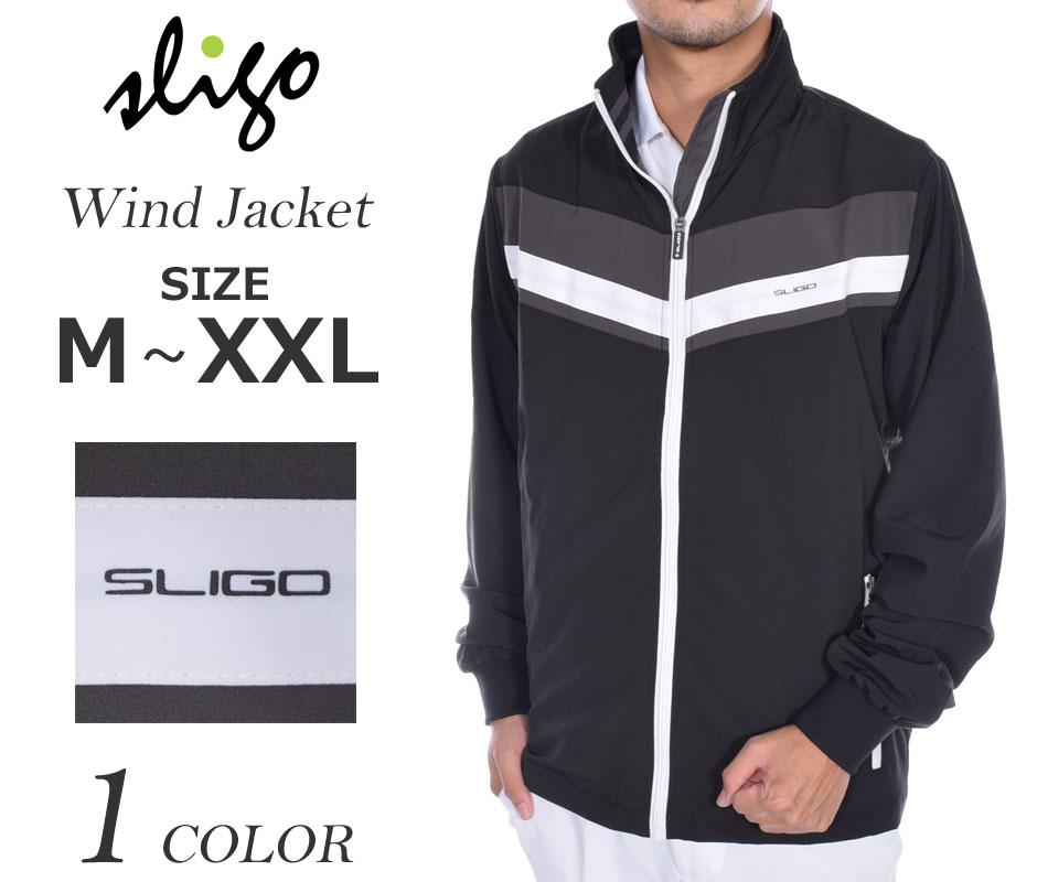 (在庫処分)スライゴ SLIGO ゴルフウェア メンズ 秋冬ウェア 長袖メンズウェア ゴルフ ウインド 長袖ジャケット 大きいサイズ USA直輸入 あす楽対応