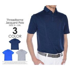 ゴルフウェア メンズ シャツ トップス ポロシャツ 春夏 おしゃれ (在庫処分)アンダーアーマー UNDER ARMOUR ゴルフウェア メンズウェア ゴルフ ポロシャツ スレッドボーン 半袖ポロシャツ 大きいサイズ USA直輸入 あす楽対応