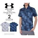 アンダーアーマー UNDER ARMOUR ゴルフウェア メンズウェア プレイオフ コース グリッド 半袖ポロシャツ 大きいサイズ USA直輸入 あす楽対応