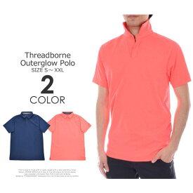 (在庫処分)ゴルフウェア メンズ シャツ トップス ポロシャツ 春夏 おしゃれ アンダーアーマー UNDER ARMOUR ゴルフウェア メンズウェア スレッドボーン アウターグロー 半袖ポロシャツ 大きいサイズ USA直輸入 あす楽対応