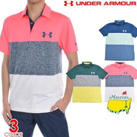 (スペシャル感謝セール)ゴルフウェア メンズ シャツ トップス ポロシャツ 春夏 おしゃれ アンダーアーマー UNDER ARMOUR ゴルフウェア メンズウェア プレイオフ 2.0 ヘリテージ ブロック 半袖ポロシャツ 大きいサイズ USA直輸入 あす楽対応