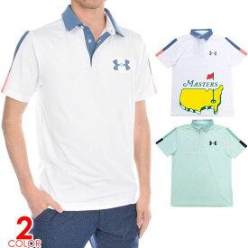 (感謝セール品)ゴルフウェア メンズ シャツ トップス ポロシャツ 春夏 おしゃれ アンダーアーマー UNDER ARMOUR ゴルフウェア メンズウェア プレイオフ 2.0 ウェッジ グラフィック 半袖ポロシャツ 大きいサイズ USA直輸入 あす楽対応