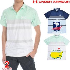 (感謝セール品)ゴルフウェア メンズ シャツ トップス ポロシャツ 春夏 おしゃれ アンダーアーマー UNDER ARMOUR ゴルフウェア メンズウェア Iso-Chill クール ブロック 半袖ポロシャツ 大きいサイズ USA直輸入 あす楽対応