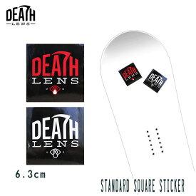 ステッカー DEATH DIGITAL LENS STANDARD SQUARE STICKER デス レンズ スノーボード スケート【店頭受取対応商品】