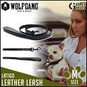 リード 中型犬用 Mサイズ WOLFGANG MAN&BEAST Latigo Leather レザー 本革