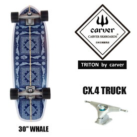 CARVER カーバ TRITON Whale 30 サーフスケート スケートボード スケボー スケート コンプリート 完成品