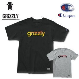 Tシャツ グリズリー GRIZZLY x Champion LOWERCASE FADEAWAY 半袖TEE