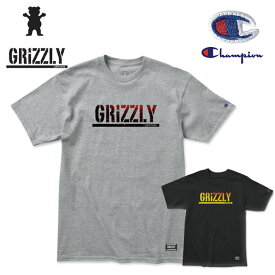 Tシャツ グリズリー GRIZZLY x Champion STAMP FADEAWAY 半袖TEE