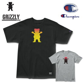 Tシャツ グリズリー GRIZZLY x Champion OG BEAR FADEAWAY 半袖TEE