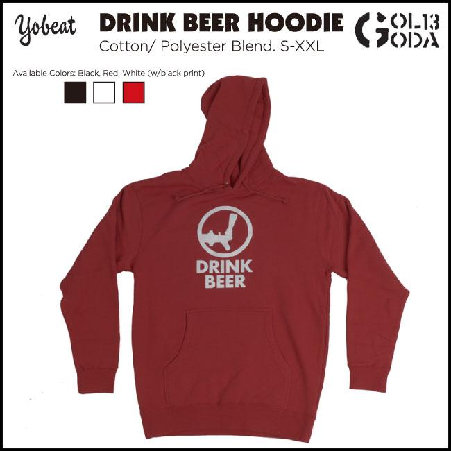 【エントリーでMAXポイント4倍】17-18 パーカー YOBEAT DRINK BEER HOODIE スノボーウエア パーカ フード スノーボード スノボ snowboard ヨービート
