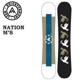 予約 ウエスト スノーボード WEST SNOWBOARD NATION M'S 20-21 メンズ キャンバー パーク スノボ スノボー 板