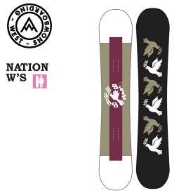 予約 ウエスト スノーボード WEST SNOWBOARD NATION W'S 20-21 レディース キャンバー パーク スノボ スノボー 板