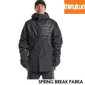 【予約】サーティーツー ジャケット THIRTYTWO SPRING BREAK PARKA 32 21-22モデル アウター スノーボード ウェアー スノボ