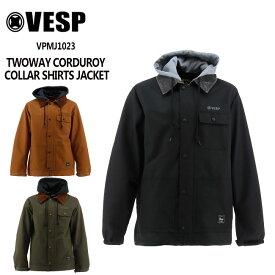 予約 べスプ VESP TWOWAY CORDUROY COLLAR SHIRTS JACKET(VPMJ1023) 21-22 スノーボードウェア ジャケット ウェアー