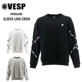 予約 べスプ トレーナー VESP SLEEVE LINE CREW(VPMS1008) 21-22 スエット スノーボード スノボ