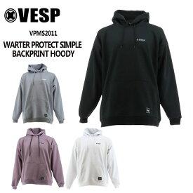 予約 べスプ 防水パーカー VESP WARTER PROTECT SIMPLE BACKPRINT HOODY(VPMS2011) 21-22 スエット スノーボード スノボ
