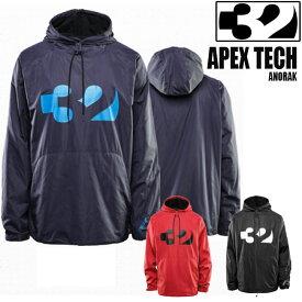 サーティーツー パーカー THIRTYTWO APEX TECH アペックス フリース ジャケット 32 19-20モデル メンズ アウター