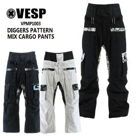 べスプ VESP DIGGERS PATTERN MIX CARGO PANTS (VPMP1003) 20-21 パンツ スノーボード ウェアー スノボーウェア メンズ レディース