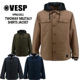 予約 べスプ VESP TWOWAY MILITALY SHIRTS JACKET(VPMJ1011) 20-21スノーボードウェア シャツジャケット ウェアー