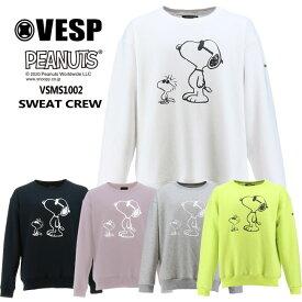 予約 べスプ VESP PEANUTSコラボ CREW(VSMS1002) 20-21 トレーナー スエット スノーボード スノボ