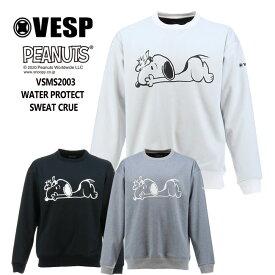 べスプ トレーナー VESP PEANUTSコラボ WATERPROTECT CREW (VSMS2003) 20-21 ボンディング スエット スノーボード スノボ