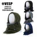 べスプ 19-20モデル VESP EMBOSS LOGO FLEECE BALACLABA VPMBA19-02 バラクラバ フードウォーマー MASK マスク ネック…