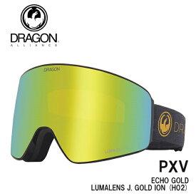 予約 ドラゴン ゴーグル DRAGON PXV ECHO GOLD 2 /J.GOLD (H02) 21-22 JAPAN FIT 国内正規品 スノボ スキー