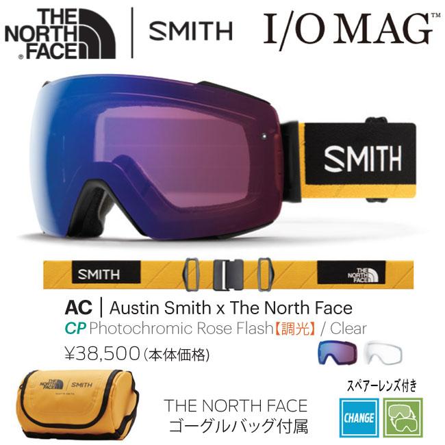 【MAX2000円オフクーポン配布中】予約 18-19モデル ゴーグル SMITH スミス I/O MAG アイオーマグ AUSTINxTHE NORTH FACE AC ノースフェース JAPAN FIT アジアンフィット 国内正規品 スノ