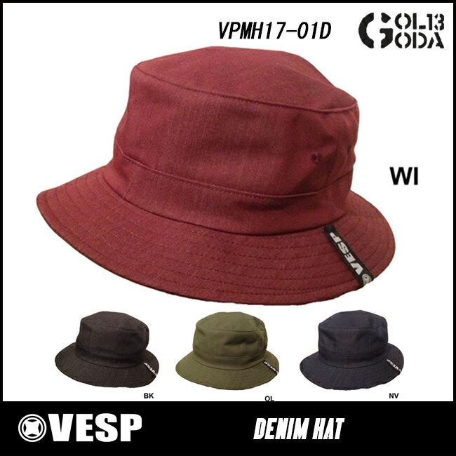 17-18モデル VESP DENIM HAT VPMH17-01D べスプ デニム ハット 帽子 スノーボードウェアー スノボーウェア