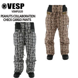 予約 べスプ VESP PEANUTS コラボ CHECK CARGO PANTS (VSMP1020) 21-22 パンツ スノーボード ウェアー スノボーウェア メンズ レディース