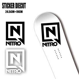 ステッカー NITRO STICKER DIECUT Lサイズ カッティング 字抜き スノーボード SNOWBOARD【店頭受取対応商品】